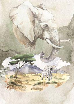 Afrikanischer Elefant von Karin Schwarzgruber