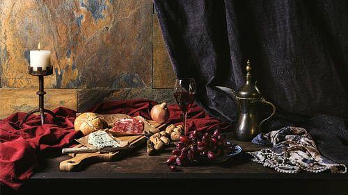 Stil leven van wijn en tapas van Arend Wiersma