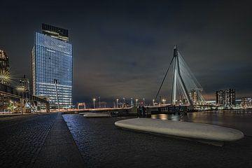 Le Kop van Zuid à Rotterdam et le pont Erasmus sur Original Mostert Photography