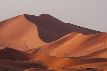 Zandduinen bij zonsondergang, woestijn Namibië || Sossusvlei