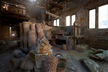 verlassene Terrakotta-Werkstatt von Kristof Ven