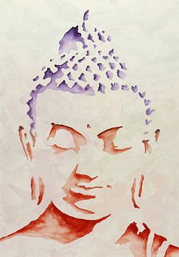 Tête de Bouddha sur