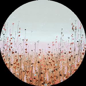 Bloemenveld schilderij, aards elegant van Bianca ter Riet