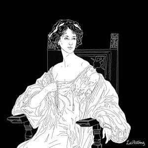 Portret van Winifred Cavendish-Bentinck van Zoë Hoetmer