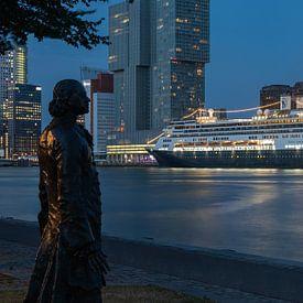 Das Kreuzfahrtschiff MS Rotterdam zum letzten Mal im Kreuzfahrthafen von Rotterdam von MS Fotografie | Marc van der Stelt