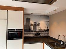 Kundenfoto: 3 Rotterdamer Brücken (schwarz-weiß) von Rick Van der Poorten, auf alu-dibond