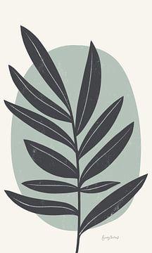 Midden-eeuw Modern I Blue Crop, Becky Thorns van Wild Apple