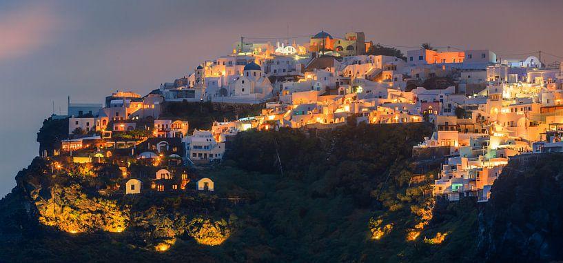 Zonsondergang Imerovigli, Santorini, Griekenland van Henk Meijer Photography