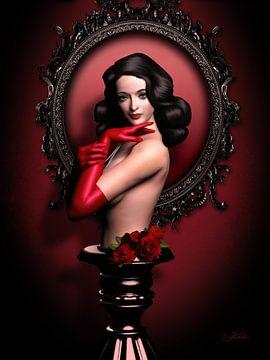 Roter Handschuh Fetisch von Britta Glodde