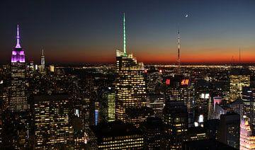 New York by night van