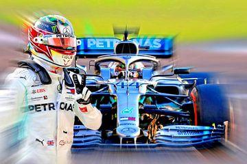 LH44 Wereldkampioen 2019 - Lewis Hamilton van Jean-Louis Glineur alias DeVerviers