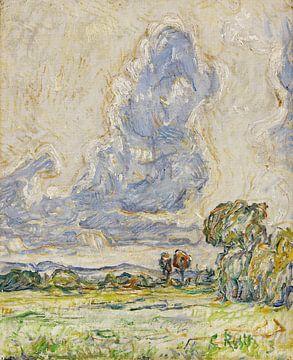 Landschap, Christian Rohlfs, 1903 van Atelier Liesjes