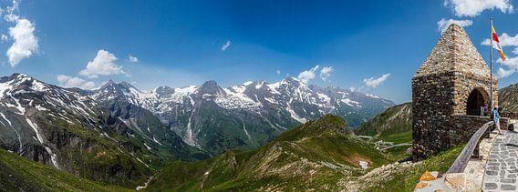Berglandschap van het Großglockner massief, Hohe Tauern, Oostenrijk van Martin Stevens