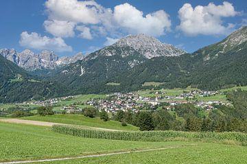 Telfes in de Stubai, Tirol van Peter Eckert