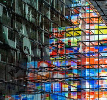 Innenfassade Bild und Ton Hilversum. von Henri Boer Fotografie