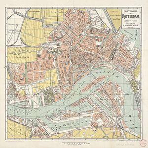 Plattegrond van Rotterdam / geteekend door J.J. Claus