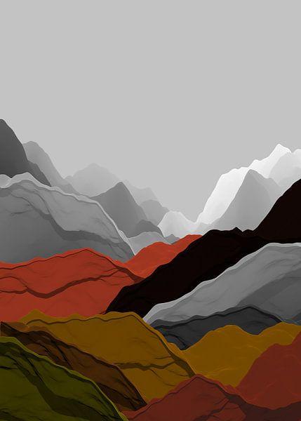 Bunte Berge 7 von Angel Estevez