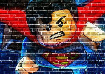 LEGO Superman Wandgraffiti von Bert Hooijer