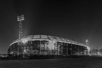 Feyenoord Rotterdam stadium 'De Kuip' at Night - part five van Tux Photography