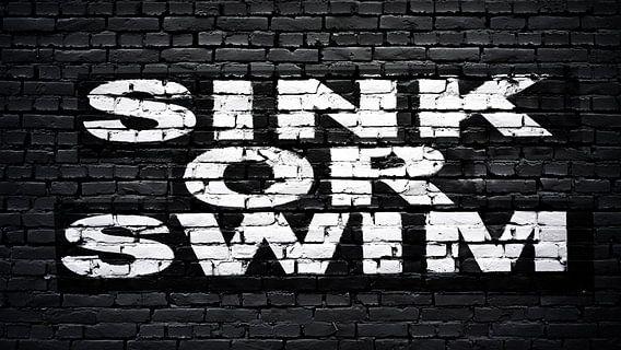 zinken of zwemmen