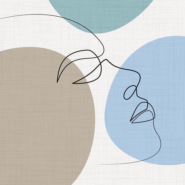 Stirnlinien-Zeichnung von Color Square
