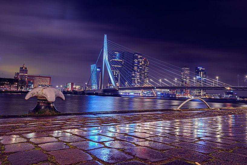 Reflectie Erasmusbrig Rotterdam van Tom Roeleveld