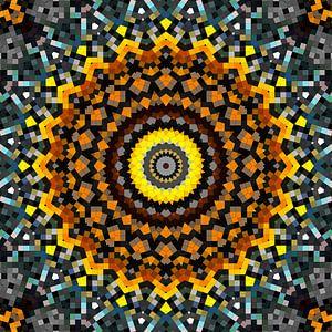 Mandala patroon 7 van