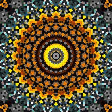 Mandala patroon 7 van Marion Tenbergen