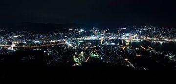 Nagasaki by night (Million Dollar View) van Meneer Bos
