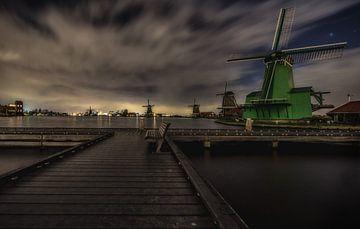 Zaanse Schans by Night van Mario Calma