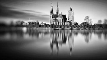 St-Martinuskerk Cuijk #8 (zwart wit) van Lex Schulte