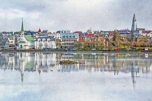 Tjörninmeer, Reykjavik, IJsland