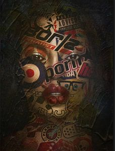 Just Face 01- Black Beauty - Plakative Dadaismus