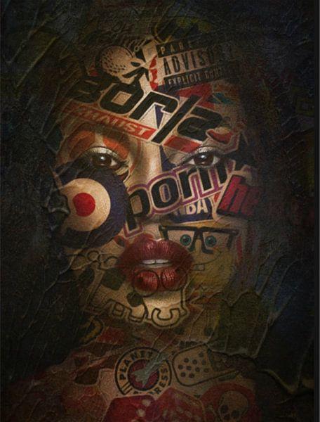 Just Face 01- Black Beauty - Plakative Dadaismus van Felix von Altersheim
