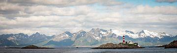 Vuurtoren op Lofoten, Noorwegen van