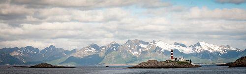Vuurtoren op Lofoten, Noorwegen