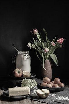 Apfelkuchen | bildende Kunst Stillleben Farbfotografie | Wandkunst drucken von Nicole Colijn