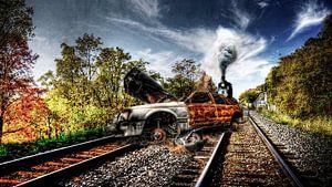 Railroad blokked van