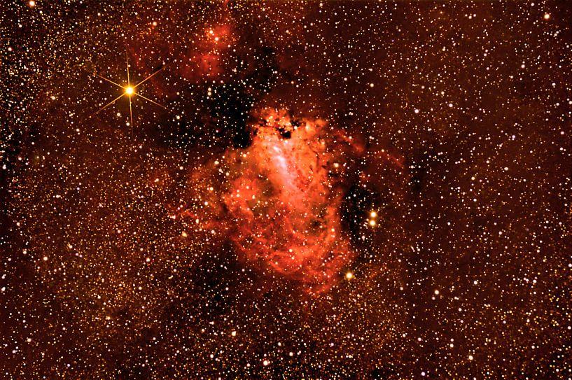Omeganevel - Messier 17  NGC 6618) van Monarch C.