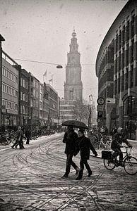 Sneeuw in Groningen van