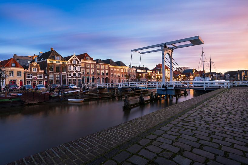 Zonsopkomst Pelsbrugje in Zwolle van Rick Kloekke