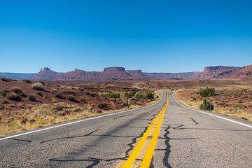 Straße durch Utah von Richard van der Woude