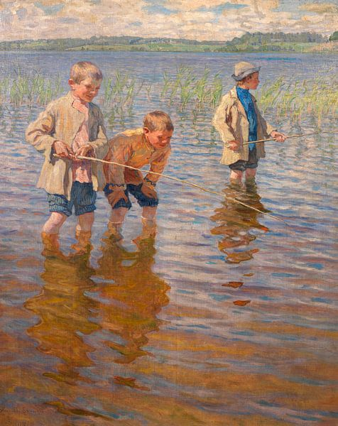 Mittagsfischen, Nikolai Bogdanov-Belsk von Meesterlijcke Meesters