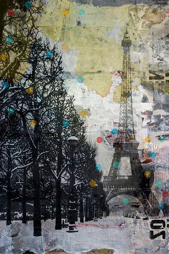 SNOW  IN PARIS van