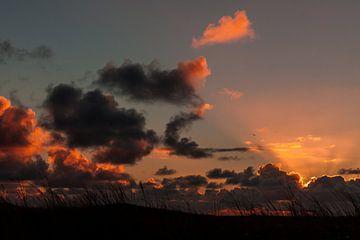 Zonsondergang boven de Slufter van Simone Janssen