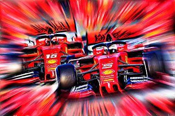 Italian Power 2019 - Vettel versus Leclerc von Jean-Louis Glineur alias DeVerviers