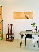 Kundenfoto: Maruyama Okyo - Reiher auf einem Weidenzweig, auf leinwand