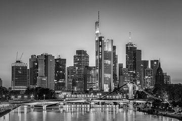 Een avond in  Frankfurt am Main in Zwart-Wit