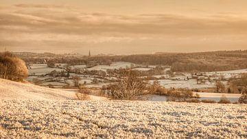 Eerste sneeuw in Zuid-Limburg