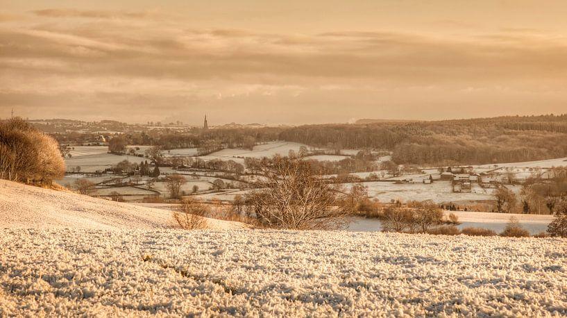 Eerste sneeuw in Zuid-Limburg van John Kreukniet